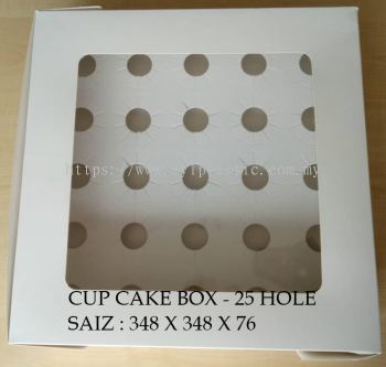 CUP CAKE BOX - 25 HOLE (348X348X76)
