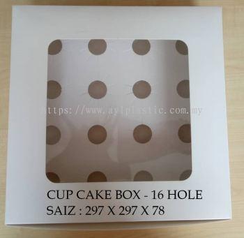 CUP CAKE BOX -16 HOLE  ( 297X297X78)