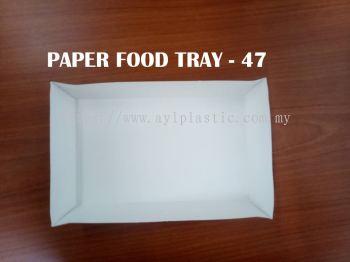 OKID PAPER FOOD TRAY (PAFT 47) (174X106X3)