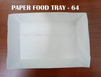 OKID PAPER FOOD TRAY (PAFT- 64) (154X95X3)
