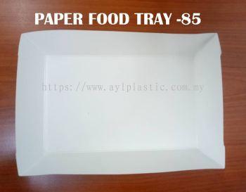 OKID PAPER FOOD TRAY (PAFT 85) (200X125X4MM)