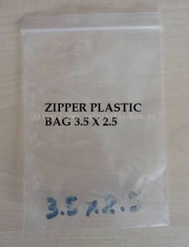 ZIPPER PLASTIC BAG 3.5 X 2.5