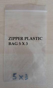 ZIPPER PLASTIC BAG 5X3