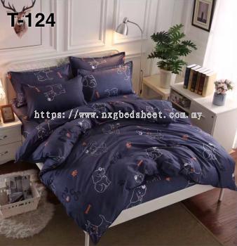 T124 King/Queen 5in1 with comforter set