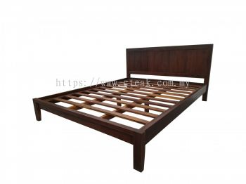 Bed King Size (D4) (Dark Walnut Color)