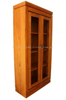 2 Doors Display Cabinet (With Glass)
