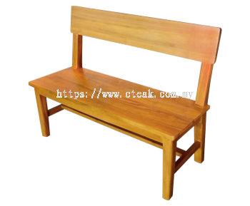 2 Seater Bench With Woodback