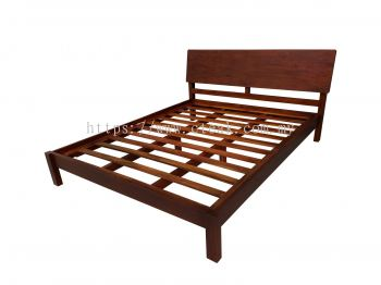 Bed King Size (D5) (Dark Walnut Color)