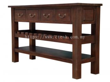 4 Drawers Wine Table (Pre Order)