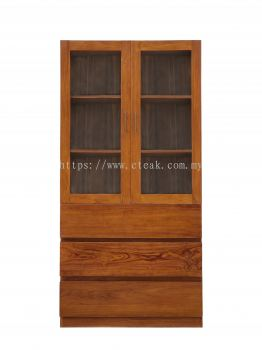 3 Drawers Display Cabinet With Glass (Model 229)