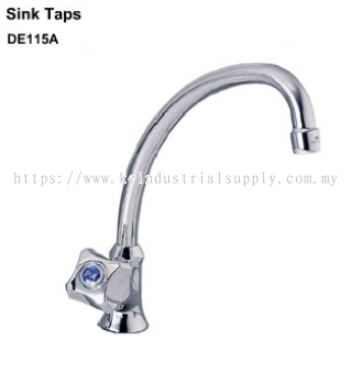 "DOE DE115A - PILLAR MOUNTED SINK TAP CW 8"" SWIVEL ANTI S/AERATOR"