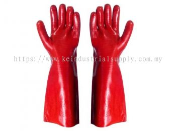 PVC Dipped Red Glove