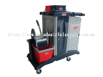IMEC MX303 Multi Functional Janitor Trolley with 4 Side Enclosed