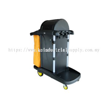 IMEC JT COMPACT 9 Janitor Cart with Key Lock System
