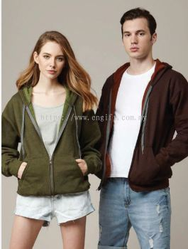 Adult Vintage Full Zip Hooded Sweatshirt 18700