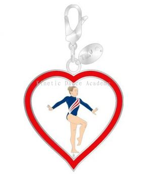Spin Heart Gymnast Charm