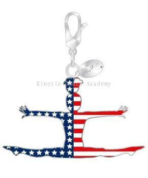 Striped Gymnast Straddle Charm