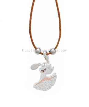Gym Angel Charm & Cord Necklace