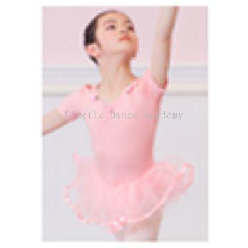3610 - 短袖网纱裙款连身衣 (带小花)