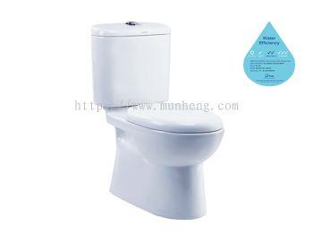 WC 1031 / LC 5028 Syenite WC Suite Close Couple Wash Down Pedestal WC Suite