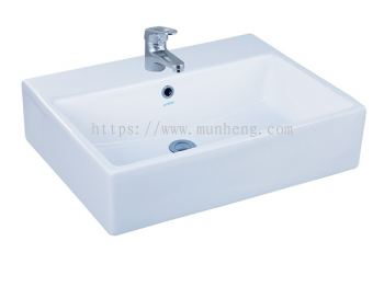WB 2042 Quartz Basin Table Top or Wall Hung Square Basin