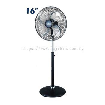 Standing Fan Black Body (Aluminium 4 Blade) FBS-16