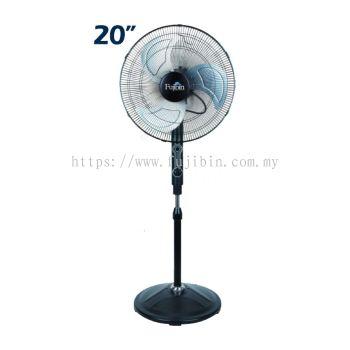 Standing Fan Black Body (Aluminium 3 Blade) FBS-20B