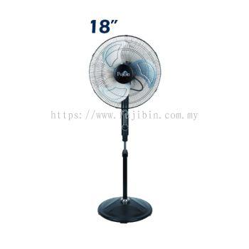 Standing Fan Black Body (Aluminium 3 Blade) FBS-18B