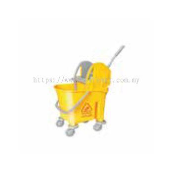 Yellow Italy Single Mop Bucket - 22L (Down Press)