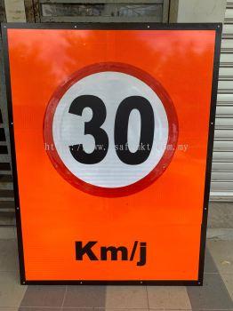 VSAFEMKT JKR temporally Road Sigange ( Speed Limit) H1220 X W914mm