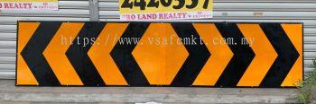 VSAFEMKT JKR TEMPORARY TRAFFIC ROAD SIGN ( Chevron) Size : 600 X 1620mm