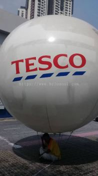 GIANT BALLOON 12FT DIAMETER WITH HELIUM GAS INSTALLATION