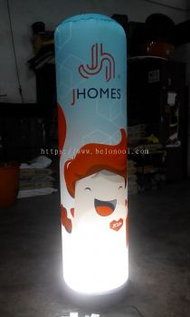 INFLATABLE LIGHTED TUBE WITH BLOWER