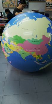 Inflatable giant globe