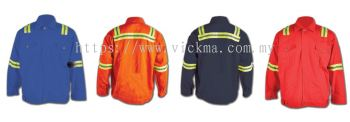 100% COTTON JACKET C/W REFLETOR