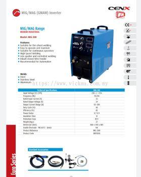 CENX WIM MIG,MAG RANGE INVERTER MACHINE MIG 200