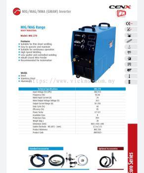 CENX WIM MIG / MAG RANGE INVERTER MACHINE MIG 270