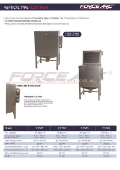 3 FOECE ARC VERTICAL TYPE FLUX OVEN