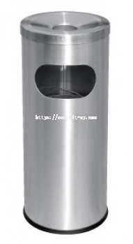 Stainless Steel Litter Bin c/w Ashtray Top RAB-001/A