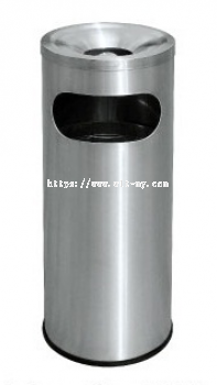 Stainless Steel Litter Bin c/w Ashtray Top RAB-042/A