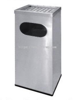 Stainless Steel Rectangular Waste Bin c/w Ashtray Top RAS-122/A