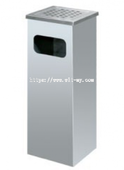 Stainless Steel Square Ashtray Bin SQB-003/SS