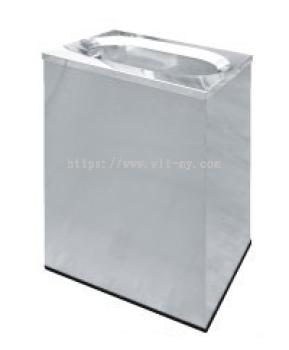 Stainless Steel Rectangular Waste Bin c/w Oval Top Opening RAS-121/OT