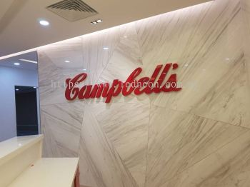 Campbell's logo signage