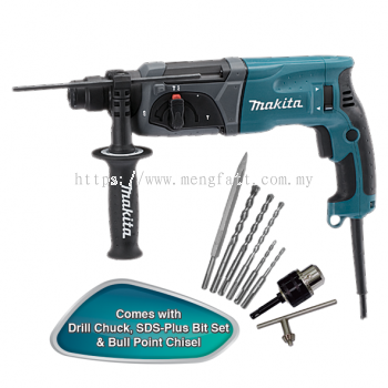 "Makita HR2470X5 24mm (15/16"") Rotary Hammer"