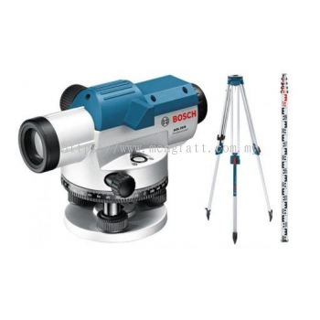 BOSCH GOL26D OPTICAL LEVEL C/W TRIPOD+LEVELLING ROD