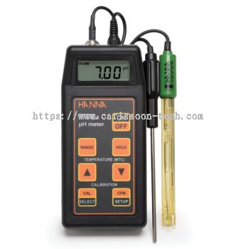 HANNA - Portable pH/mV Meter