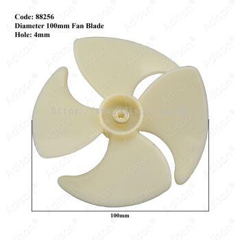 Code: 88256 Fan Blade Dia 100mm Hole 4mm