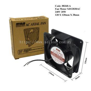 Code: 88260-A Fan Motor Euro XD12038AC 240V 20W 120x120mm Ball Bearing Copper Wire
