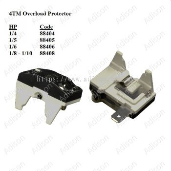 Code: 88408 Overload Protector 4TM 1/8HP-1/10HP
